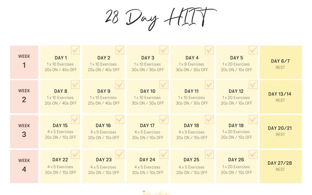 28 Day HIIT Challenge