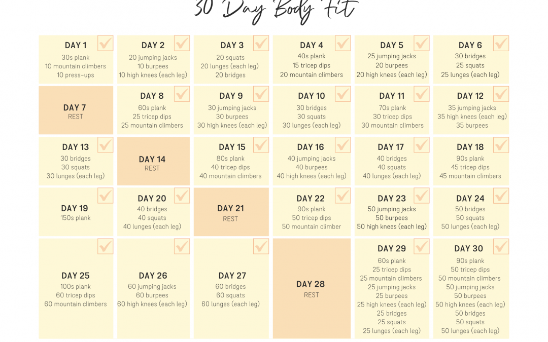 30 Day Body Fit Challenge